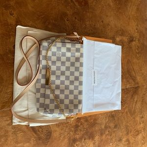Authentic Louis Vuitton Favorite MM D. Azur